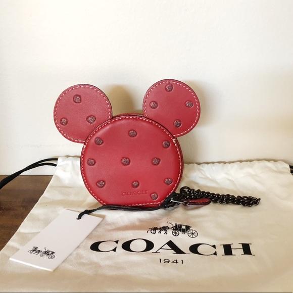 the best attitude 686d7 1a413 Disney x Coach Minnie Mouse Coin Purse - Red NWT NWT